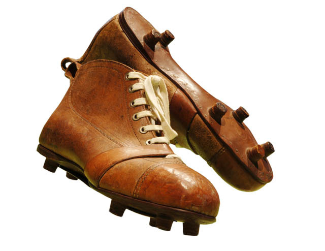Old Style Pair of Football Boots (Photo credit  Erwin Zueger) d4126fca88f2