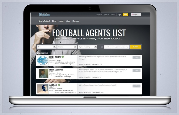 Football Agents List_Fieldoo.com