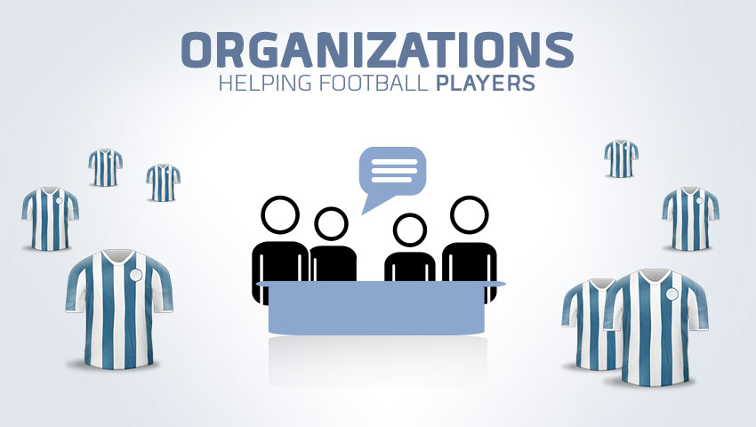 Which Organizations Help Football (Soccer) Players?