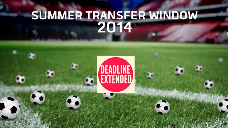 Extended Football (Soccer) Summer Transfer Window 2014